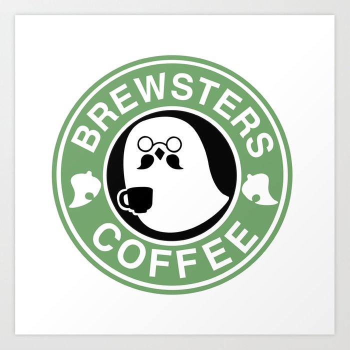 Brewsters Coffee  Art Print
