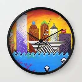 8 Bit Milwaukee Wall Clock