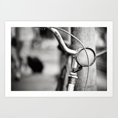 Bicycle B/W Art Print