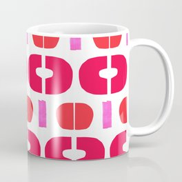 Abstract Collage Colorful Art Modern Simple Pink Red Shapes Coffee Mug