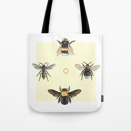 Bees on bees Tote Bag