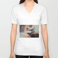 wind V-neck T-shirts featuring Wind by Erica Wexler