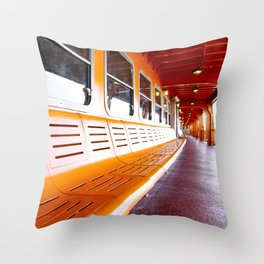 Staten Island Ferry Throw Pillow