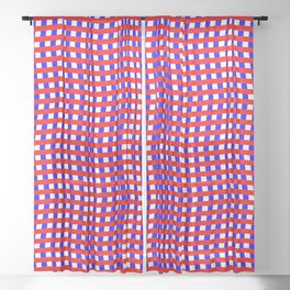 Red White Blue Zigzag Optical Illusion Pattern Sheer Curtain