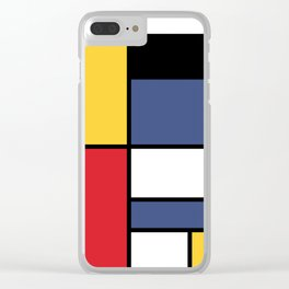 Abstraction color Clear iPhone Case