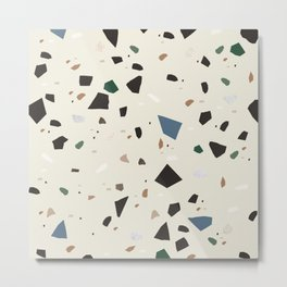 Bluestone Eden Green Black Terrazzo #1 #decor #art #society6 Metal Print