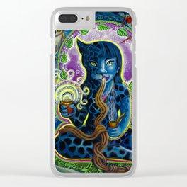 Jaguar Shaman Woman Clear iPhone Case