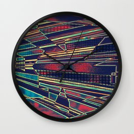 Colorful Op Art Wall Clock