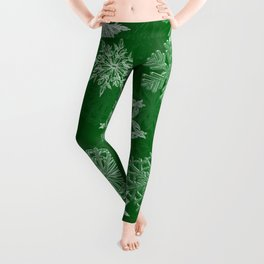 Snowflake Pattern (Green) Leggings