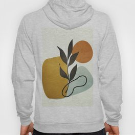 Soft Abstract Small Leaf Hoody