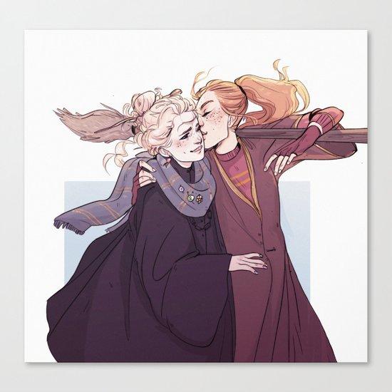 Ginny & Luna Canvas Print