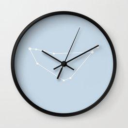 Capricorn Zodiac Constellation - Pastel Blue Wall Clock