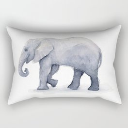 Elephant Watercolor Rectangular Pillow