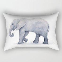 Elephant Watercolor Rectangular Pillow