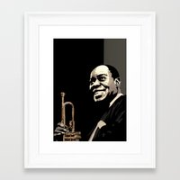 louis armstrong Framed Art Prints featuring Louis Armstrong by f_e_l_i_x_x