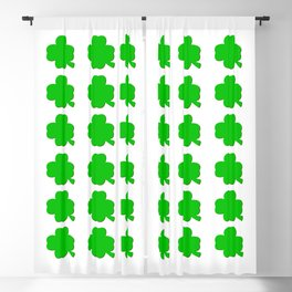 St. Patrick's Day Shamrock Irish Proverb Blackout Curtain