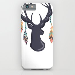 Dear Head and Feathers iPhone Case