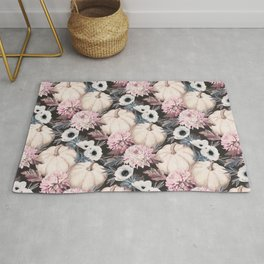 Harvest Floral with Pink and Blue Rug