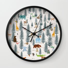 little nature woodland Wall Clock