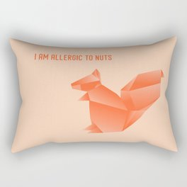 Allergic to Nuts - Origami Orange Squirrel Rectangular Pillow