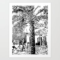 palm tree Art Prints featuring Palm tree by ArteGo