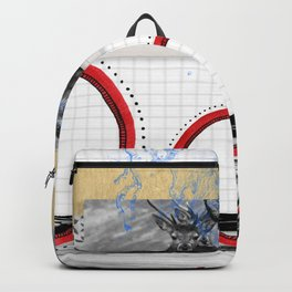 The Stags on the hill collage Backpack