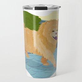 Chow Chow Dog Art Illustration Travel Mug