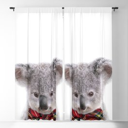 Baby Koala With Bow Tie, Baby Animals Art Print By Synplus Blackout Curtain