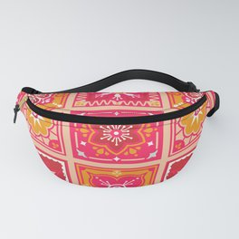 Talavera Mexican Tile – Hot Pink & Orange Palette Fanny Pack