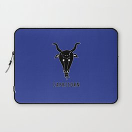 CAPRICORN Horoscope Goat Design - Dark Blue Laptop Sleeve
