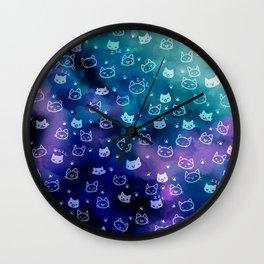 Kitty galaxy-meow Wall Clock