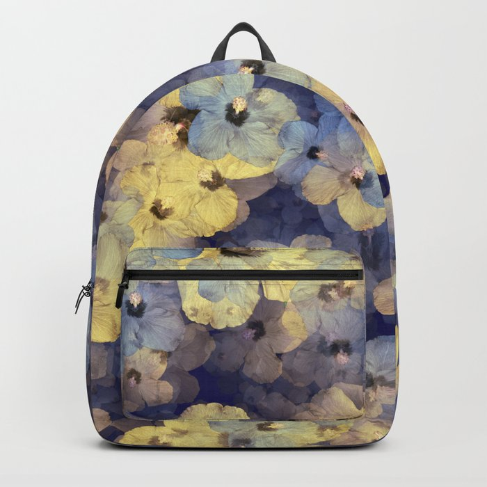 Floral Mauve-Blue-Yellow Backpack
