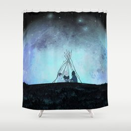 Melancholia Shower Curtain
