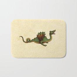 Medieval Green Dragon Bath Mat