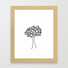 Square Tree Framed Art Print