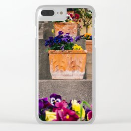 Positano Blooms IX Clear iPhone Case