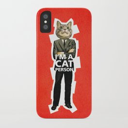 Cat Person iPhone Case