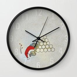 Puppy Sleeping, Xmas Eve Wall Clock