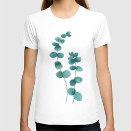green eucalyptus watercolor T-shirt