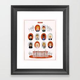 SKAM Kids Framed Art Print