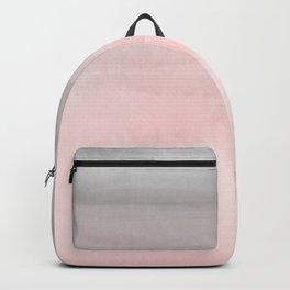 Blushing Pink & Grey Watercolor Backpack