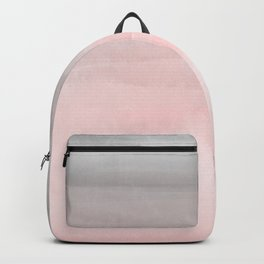 Blushing Pink & Grey Watercolor Backpack