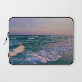 Sunset Crashing Waves Laptop Sleeve