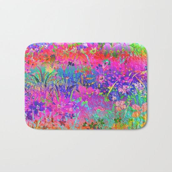 Bright Flower Garden Bath Mat