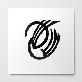 Black and White Design 67 Metal Print