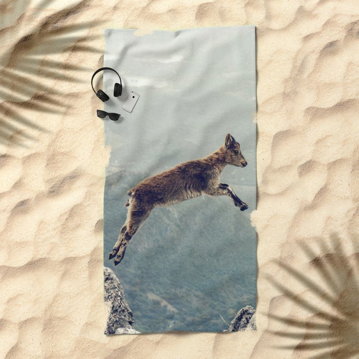 Mountain Goat Beach Towel