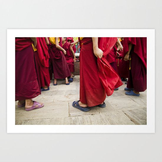 Young monks Art Print