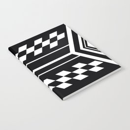 Black and White Symmetrical Notebook
