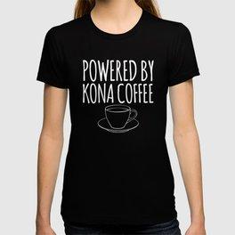 Hawaiian Coffee Powered By Kona Coffee print T-shirt