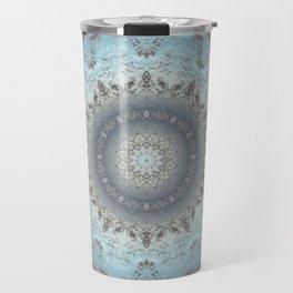 Gray blue kaleidoscope Travel Mug
